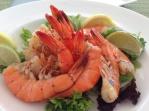 In Key West kann man auch lecker essen. Die Shrimps sind ganz frisch. Foto: Christine Jung