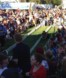 Dackelrennstrecke auf dem Oktoberfest in Lovettsville Foto: David Jung