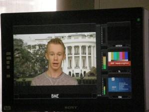 Dominic als White House Korrespondent Foto: Christina Bergmann