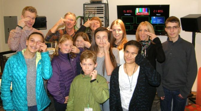 Besuch im ZDF-Studio