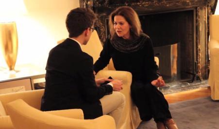 Hannelore Elsner im Interview mit Aron Malatinszky auf dem Berlin & Beyond Festival  in San Francisco 2015 Foto: Sebastian Ortiz