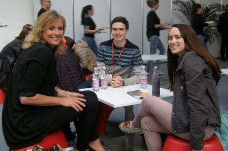 GLC-Rektorin Kerstin Hopkins, Nicholas Stauffer-Mason und Allison Meakem, Foto: Christina Bergmann