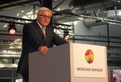 Außenminister Frank-Walter Steinmeier zum Abschluss der Konferenz, Foto: Christina Bergmann
