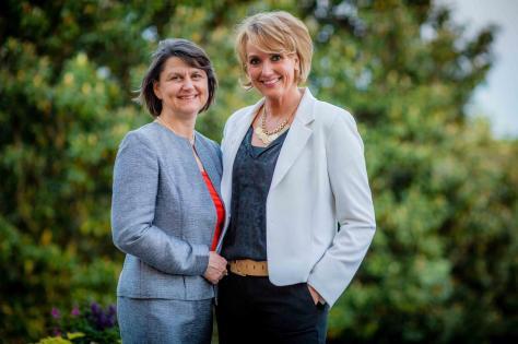 Kerstin Hopkins (r) und Christina Bergmann, Foto: Marion Meakem