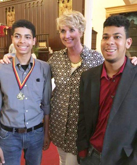 Kerstin mit Zion und Judah in Baltimore Zion Kirche Mai 2018, Foto: Este Contreras